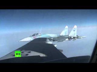 NATO Eurofighters EF-2000 hunts Russian defense ministers plane escorted by SU27