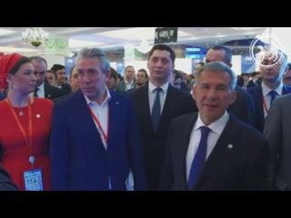 Обход Президентом Республики Татарстан выставки RUSSIA HALAL EXPO