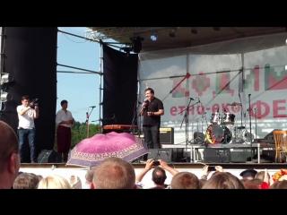 Михаил Саакашвили на Этно-Эко фестивале.