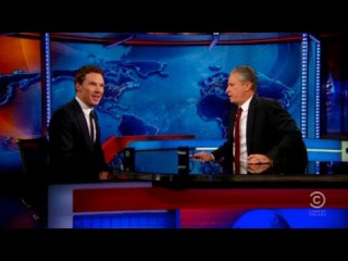 """Jon Stewart Hits on Benedict Cumberbatch: """"I Want to Rip Your Clothes Off!"""""""