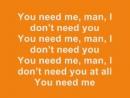 Ed Sheeran: You Need Me, I Don't Need You - Lyrics ( Album Version)