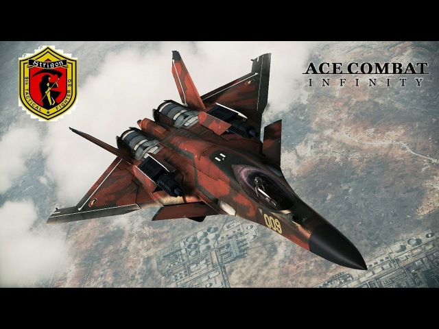Ace Combat Infinity: CFA-44 -Strigon Leader- 20Lv Ring Battle San-Diego (Kestrel Cup) No Weapon