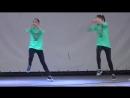 Хип-хоп танец.Хватит учить давай танцевать.Соня и Ксюша Макиенко
