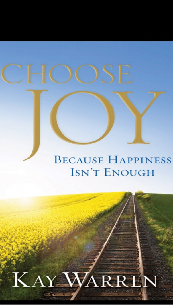 choose joy because happiness isnt enough