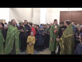 31 марта 2018 г. Суббота Лазарева,  фрагменты богослужения ( вечер )
