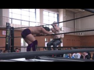Keisuke Ishii, Kota Umeda, Antonio Honda vs. Shigehiro Irie, Mizuki Watase, Jason Kincaid (DDT - Road to Ryogoku 2018 ~ Dramatic