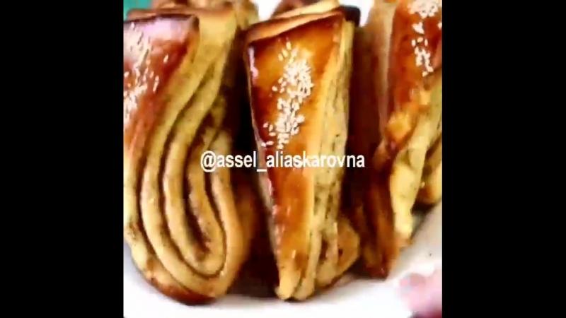 Очень вкусные и красивые булочки многослойки