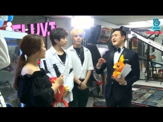 Our precious maknae kijoong working hard on plushies claw machine and he kindly gave 2 of it to the mcs