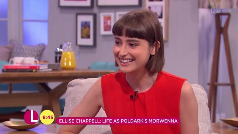 Poldark – Эллис Чаппел в шоу Lorraine на канале ITV