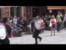с Анжеленком снова в Стокгольме (уличные музыканты из Чили на площади Stortorget)