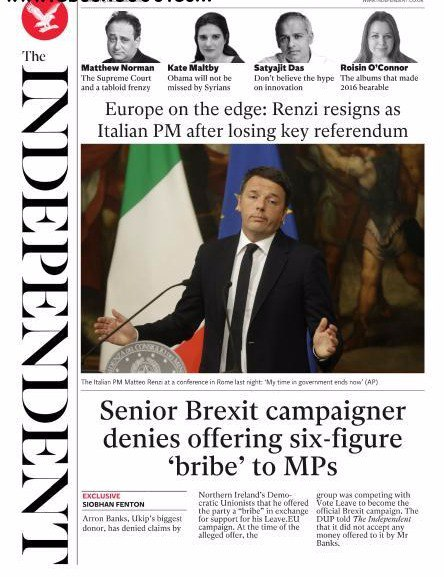 The Independent - 5 December 2016