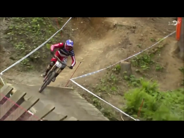 Aaron Gwin Chainless Win Leogang 2015 World Cup DH MTB