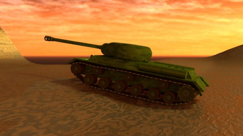 Blender phisics tank