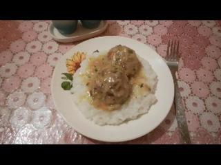 Капустно-мясные котлеты с подливой/ужин вкусно и просто