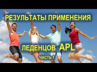 Результаты применения леденцов APL - ч. 1