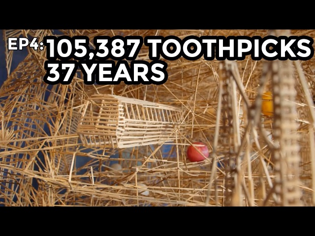 Amazing Art -Toothpick Sculpture - COOLEST THING I'VE EVER MADE: EP4