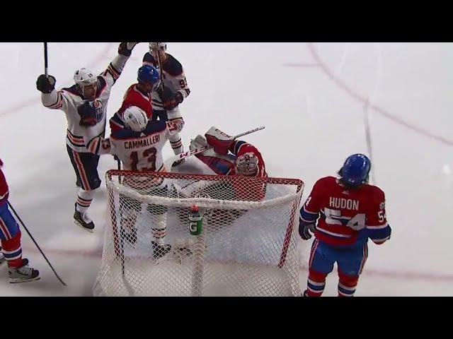 Oilers' Cammalleri opens the scoring against Canadiens