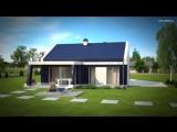 Компактный одноэтажный дом Z256 от Z500