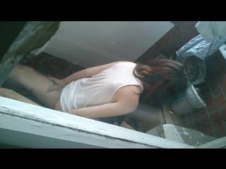 Застукали на балконе (порно,новогоднее, выебал,трахнул,минет,анал,студентка,пьяная,вписка,сосёт,праздник)