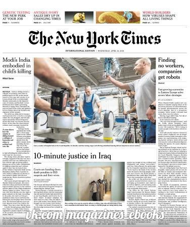 International New York Times - 18 April 2018