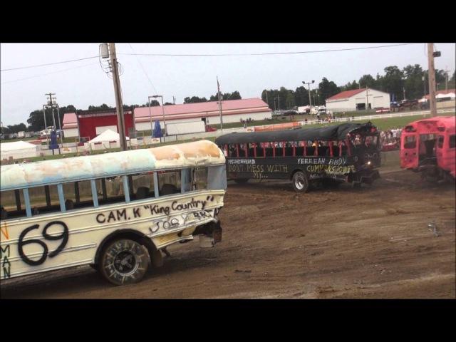 School Bus Demolition Derby - 2015 - Big Butler Fair