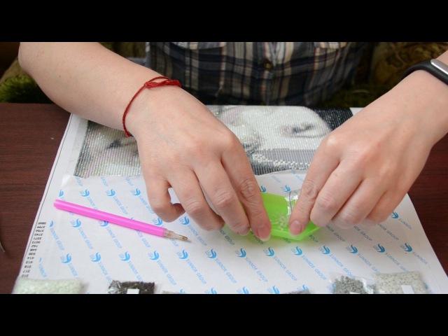 DIY: АЛМАЗНАЯ МОЗАИКА. Пинцет или стилус?   Diamond mosaic   Tweezers or stylus   鑽石馬賽克