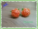 Цветок Канзаши из ленты 2 5 см МК Резиночки для волос Flower Kanzashi from a tape of 2 5 sm