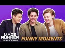 DYLAN OBRIEN FLIRTING WITH KI HONG THOMAS - Maze Runner Bloopers Funny Moments The Death Cure