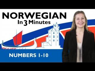Norwegian in three minutes numbers 1-10