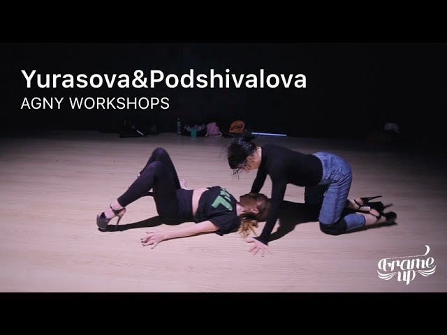Настя Юрасова и Ира Подшивалова дуэт на AGNY WORKSHOPS June 2017 Yurasova Podshivalova Павелецкая