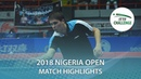 Robinot Alexandre Seyfried Joe vs Olah Benedek Lakatos Tamas 2018 Nigeria Open Highlights Final