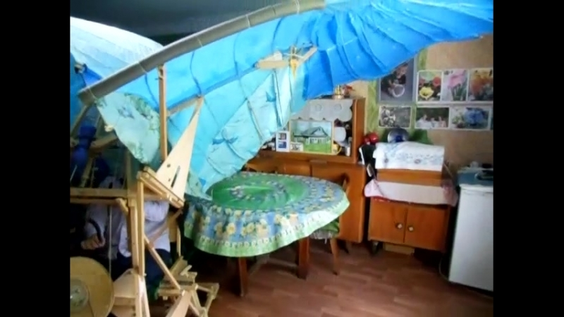 Махолёт ВИВ 5 Пилот Васильев В И Махи при взлёте в замедленном темпе