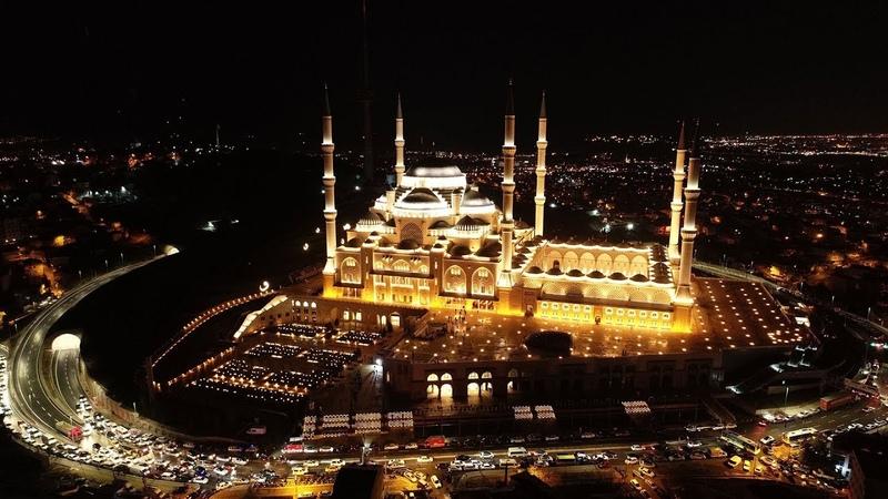 Çamlıca Camii ibadete açıldı (Havadan görüntülendi)