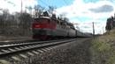 Электровоз ЧС7-093 с поездом № 056 Хмельницкий - Москва/ № 090 Жмеринка - Москва