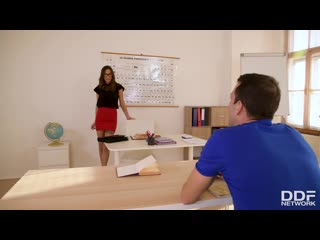 Liya silver - tutor to fuck / сексуальный урок [athletic, big tits, cum in mouth, handjob, natural tits, russian, school]