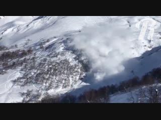 Сход лавины в Грузии
