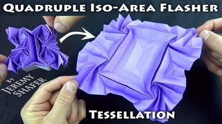 Quadruple Iso-Area Flasher Tessellation