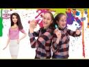 Страна девчонок • Соня и Полина украшаем комнату красками!