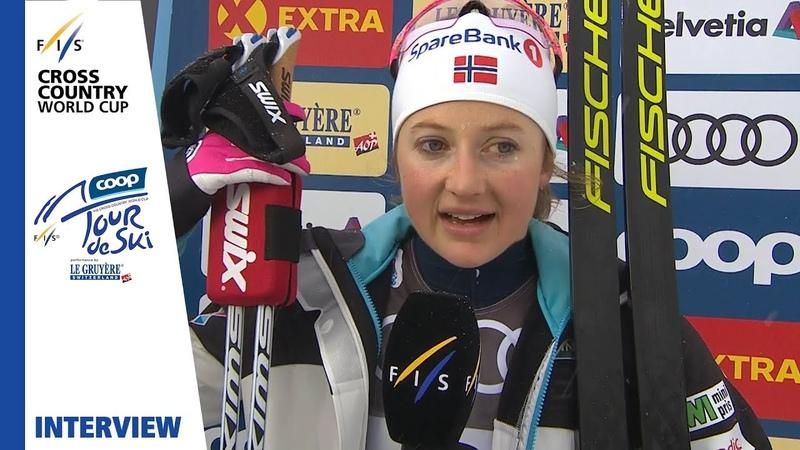 Ingvild Østberg The finish Really fun Oberstdorf Ladies' MST FIS Cross Country