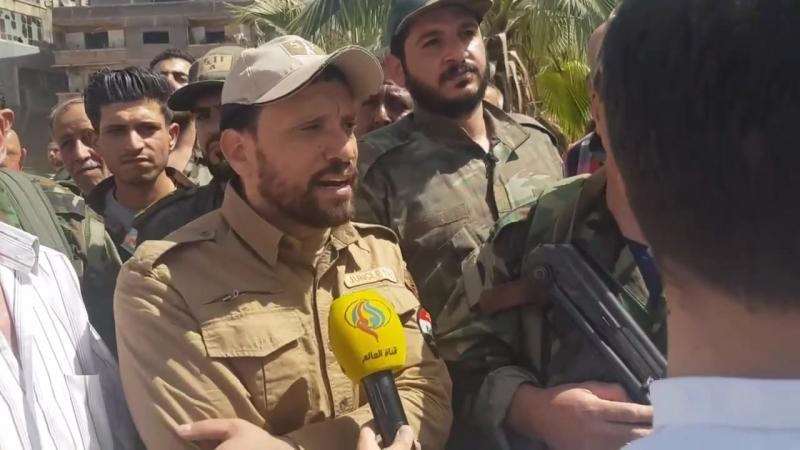 Заместитель командующего Лива Аль Кудс полковник Аднан Ас Сайед в интервью корреспонденту телевидения Аль Алам