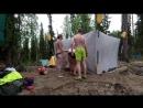 2018 08 Кольский сплав по Тумче на байдарках Баня Эпизод из будущего фильма