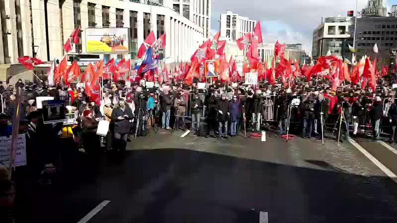 Платошкин на митинге в Москве