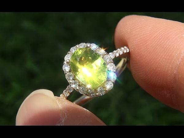 Certified Estate Natural VVS2 Chrysoberyl Diamond 14k Yellow Gold Ring - A141747