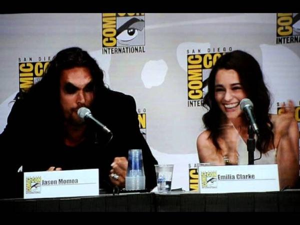 Game of Thrones Panel SDCC 2011 Jason Momoa as Khal Drogo July 21 2011