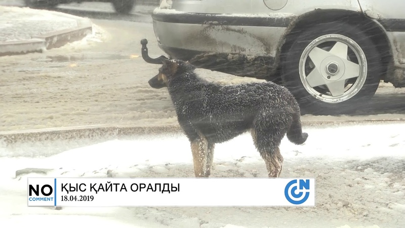 NO COMMENT Қыс қайта оралды 18 04 2019 cntv caspiannews 111