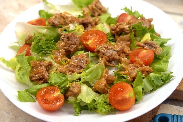 Салат с фаршем и овощами Чизбургер, изображение №7