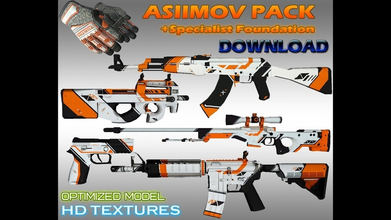 CS GO Specialist gloves Foundation ASIIMOV Pack