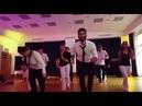 Persian dance with German guys music by Sasy Mankan