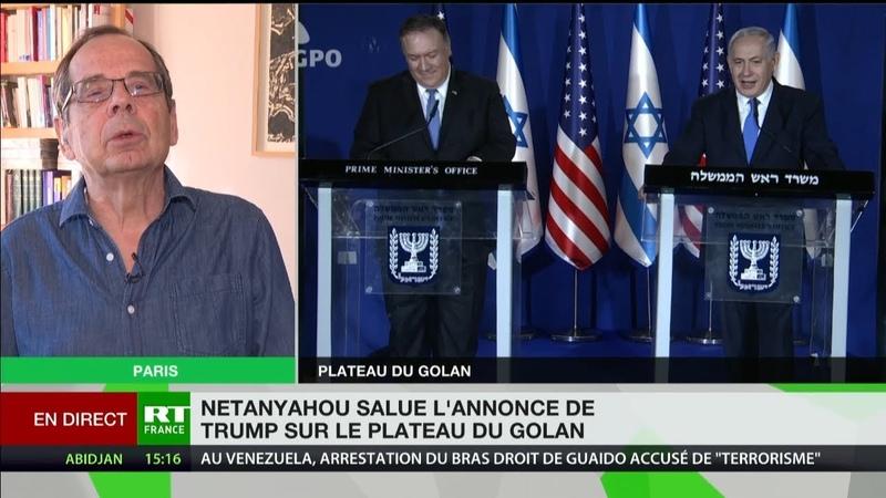 Trump reconnaît la souveraineté d'Israël sur le Golan : «Un soutien ouvert à Netanyahou»