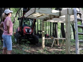 #530 Mini Cabin In the WOODS Build Part 2